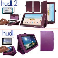 Slim Foldable Leather Flip Case Cover & Stand for Tesco Hudl & Hudl 2 Tablets