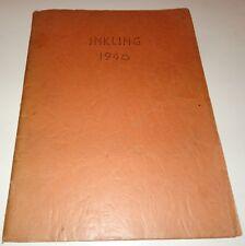 "1940 St. Bernice School Yearbook ""Inkling"" St. Bernice, Indiana"