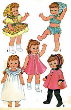 Ruthie Patsy Ann Doll Clothes PATTERNS 2466 FOR 20-21 inch Toddler Little Girl