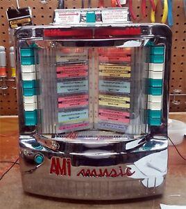 AMI WALLBOX JUKEBOX MODEL WQ-200-3 RESTORED and RECHROMED - STOCK #5552