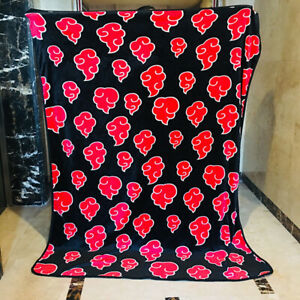 "Naruto Akatsuki Throw Blanket Coral Fleece Blankets Soft 39""x59"" throw size s"