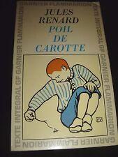 Poil De Carotte Jules Renard  1965 Flammarion Paris Paperback ( French Text )