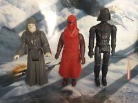 Vintage Star Wars Darth Vader, Emperor and Royal Guards figures