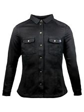 John Doe Motoshirt Women Black XTM Lumberjack Gr. XL - Schwarz Damen Aramid Hemd