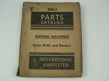 Parts Catalog International Harvester Sm 1 Seeding Machines Grain Drills 1948
