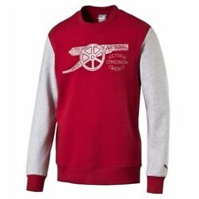 ARSENAL F.C Mens Red & Grey PUMA Football Fan Official Sweater Top Medium M BNWT