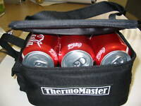 6-Can Drink Cooler Bag w/Ball/Tee Holder, Two Straps