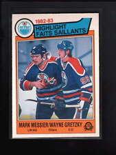 1983-84 O-PEE-CHEE #23 MARK MESSIER/ WAYNE GRETZKY NM D963