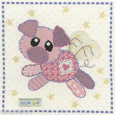 Broderie Point de Croix Compté Cotton Zoo -Organza the Piglet Bothy Threads XCZ6