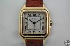 18K Yellow Gold Cartier Panther Jumbo or men's watch with original box, mint
