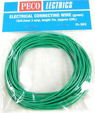 PECO PL-38G 1 x Green 7.0m 16/0.2mm 3amp Model Railway Layout Wire Roll 1stPost