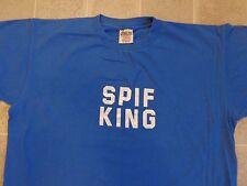 Vtg 90s SPIF KING Blue T-SHIRT Mens XL Sales Performance Incentive Fund Bonus $