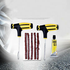 Car Tubeless Tyre Tire Puncture Repair Glue Plug Kit Needle Patch Fix To TYN