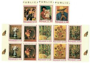 SPECIAL LOT Paraguay 1967 1027-30 - Paintings - 10 Sets of 4v - IMPERF