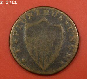 """1786 Nova Caesarea New Jersey Colonial Copper """"Good"""""""