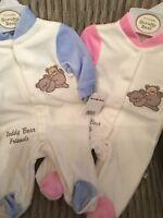 Newborn Baby Girls Boys Romper Baby Grow Girls Boys Pink Blue Rompers 0-9 Mths