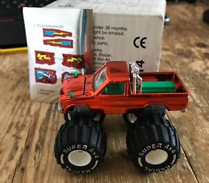 Unused/Boxed 1995 Majorette Toyota Thunder Warrior Monster Truck (with stickers)
