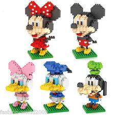 Lot of 5 Diamond Blocks Nanoblock Mickey Mouse Minny Donald Duck Goofy Gifts Toy