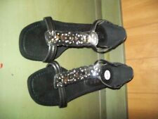 New York Transit size  Silver Slingback Wedge Sandals/shoes