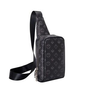 Men Small Back Pack Cross body Bag Travel Walking Chest Shoulder sling bag Purse