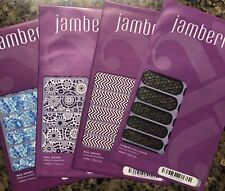 Jamberry Nail Wraps - Lot #4 - Bumble, Boysenberry Chevron, Something Blue & He