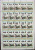 1924 LMS JINTY Fowler Class 3F 0-6-0 Train 50-Stamp Sheet (Leaders of the World)