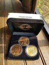 NFL Football 3 Coin Green Bay Packers Set Highland Mint/Brett,Reggie,Mark Chmura