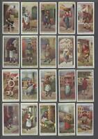 1916 John Player Cries of London Tobacco Cards Complete Set of 25