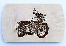Frühstücksbrettchen Frühstücksbrett Gravur Motorrad Vesper Holz Namen Brett neu