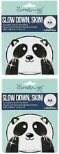 The Creme Shop Animal Face Mask Slow Down,Skin Infused Bamboo Extract Pack of 2