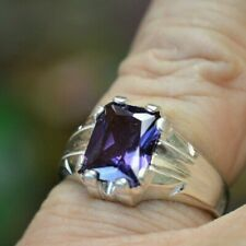 4.06+ CT MAN  S RING.RUSSIAN  LAB  ALEXANDRITE COLOR CHANGE