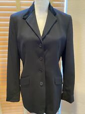 LAUREN Ralph Lauren Black Wool Equestrian Riding Jacket Size 6            P12234