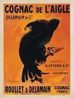 Cognac de L'Aigle by Leonetto Cappiello Art Print Huge Vintage Bar Poster 51x38