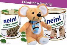 Konserven Dose Frosch Gag Überraschung Geburtstag Maus Stofftier Plüsch- braun