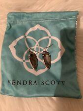 kendra scott earrings fancy arrowhead crystal silvertone mint condition