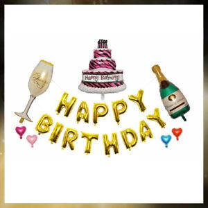 Happy Birthday Foil Balloon Letters Figures Boy Girl Baby's First Birthday Weddi
