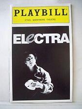 ELECTRA Playbill ZOE WANNAMAKER / CLAIRE BLOOM / PAT CARROLL NYC 1999