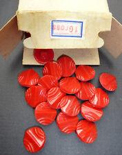 LOTE - 1Gross -144 - Vintage rojo 1.8cm Vidrio Botones