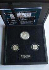 1970s Britain's Longest Reigning Monarchs Solver 3 Coin Set BOX + COA