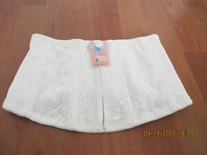 Lacey Off White/Ivory Floral Trim Corset (L)