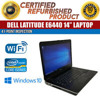 "Dell Latitude E6440 14"" Intel i5 8 GB RAM 128 GB SSD Win 10 WiFi B Grade Laptop"