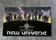 New Universe 1986 DP7 Justice Kickers Star Brand Spitfire Marvel PROMO Poster VF