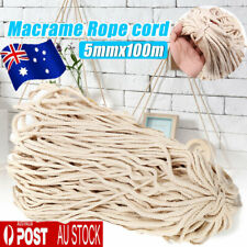 5mm X 220m 100 Natural Cotton String Twisted Cord Beige Craft Macrame Rope AU