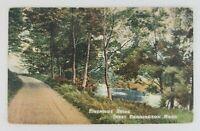 Postcard Dirt Road Riverside Drive Barrington Massachusetts 1914