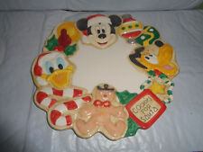 Disney - Mickey / Donald / Pluto - Cookies For Santa - Holiday Plate