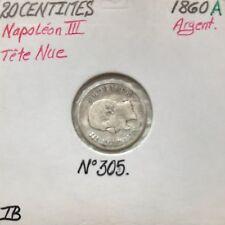 20 CENTIMES NAPOLEON III - 1860A - Pièce de monnaie en Argent - TB