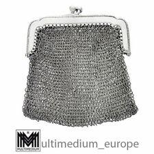 Antike Jugendstil 800 Silber Kettentasche Portemonnaie Täschchen 🌺🌺🌺🌺🌺