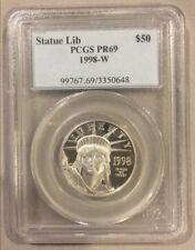 1998-W $50 PCGS PR69 Platinum American Eagle / Statue of Liberty Coin 1/2 oz