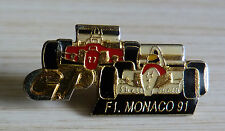 RARE VERSION PIN'S F1 FORMULA ONE AYRTON SENNA MC LAREN FERRARI GP DE MONACO 91