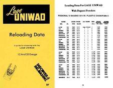 Lee Lage c1970 Uniwad Reloading Data